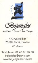 Bojangles - Business Card